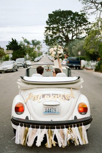 Easy Vintage Wedding Car Decoration