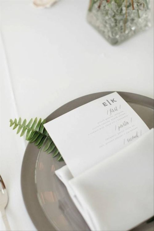 Gray And White Place Settings