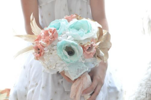 Mint Wedding Bouquet
