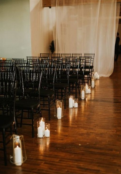 Pillar Candle Aisle Markers