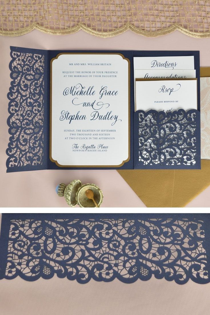 Cheap Paper Lace Wedding Invitations